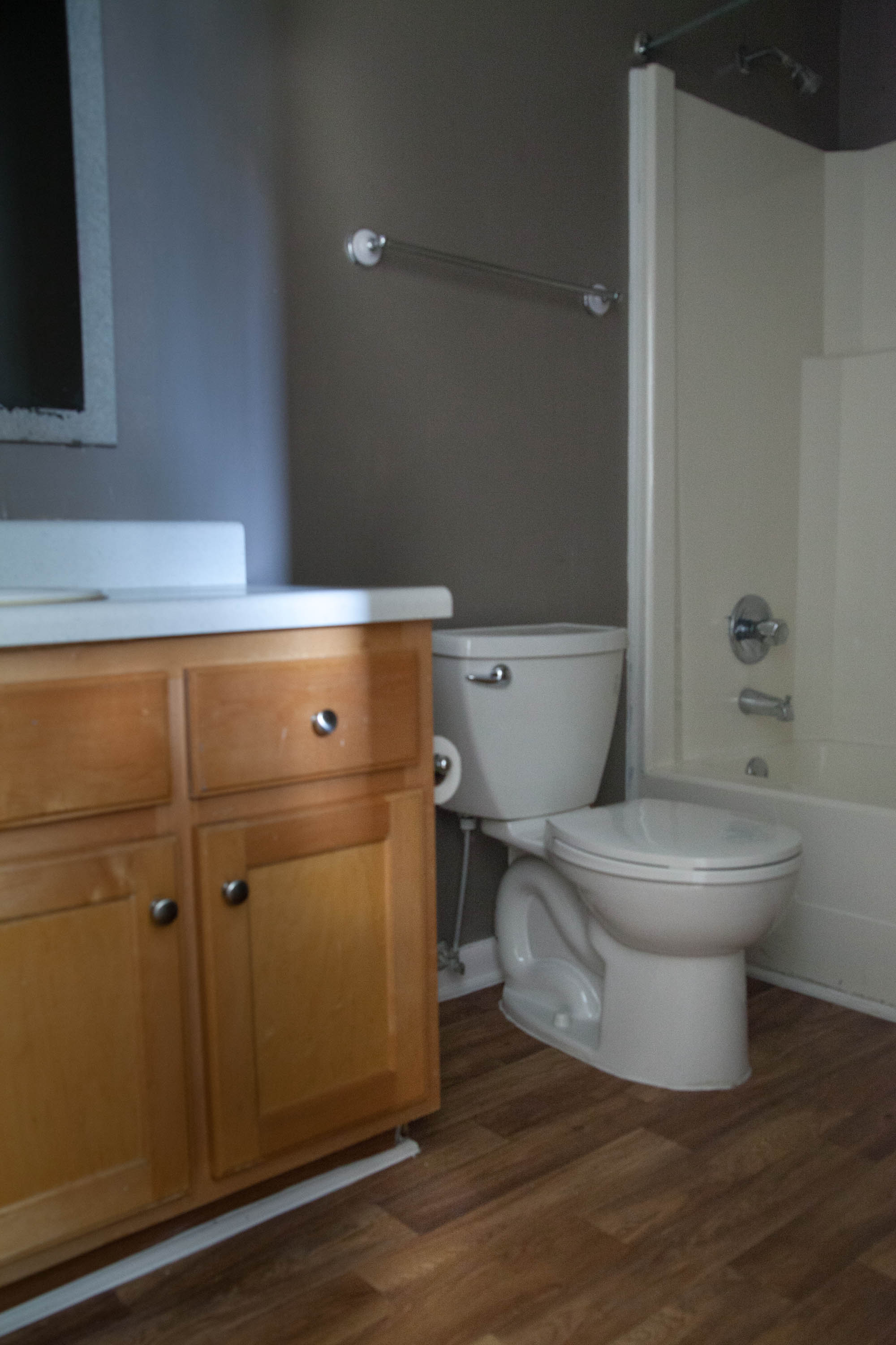 First Rental Property Master Bathroom Before