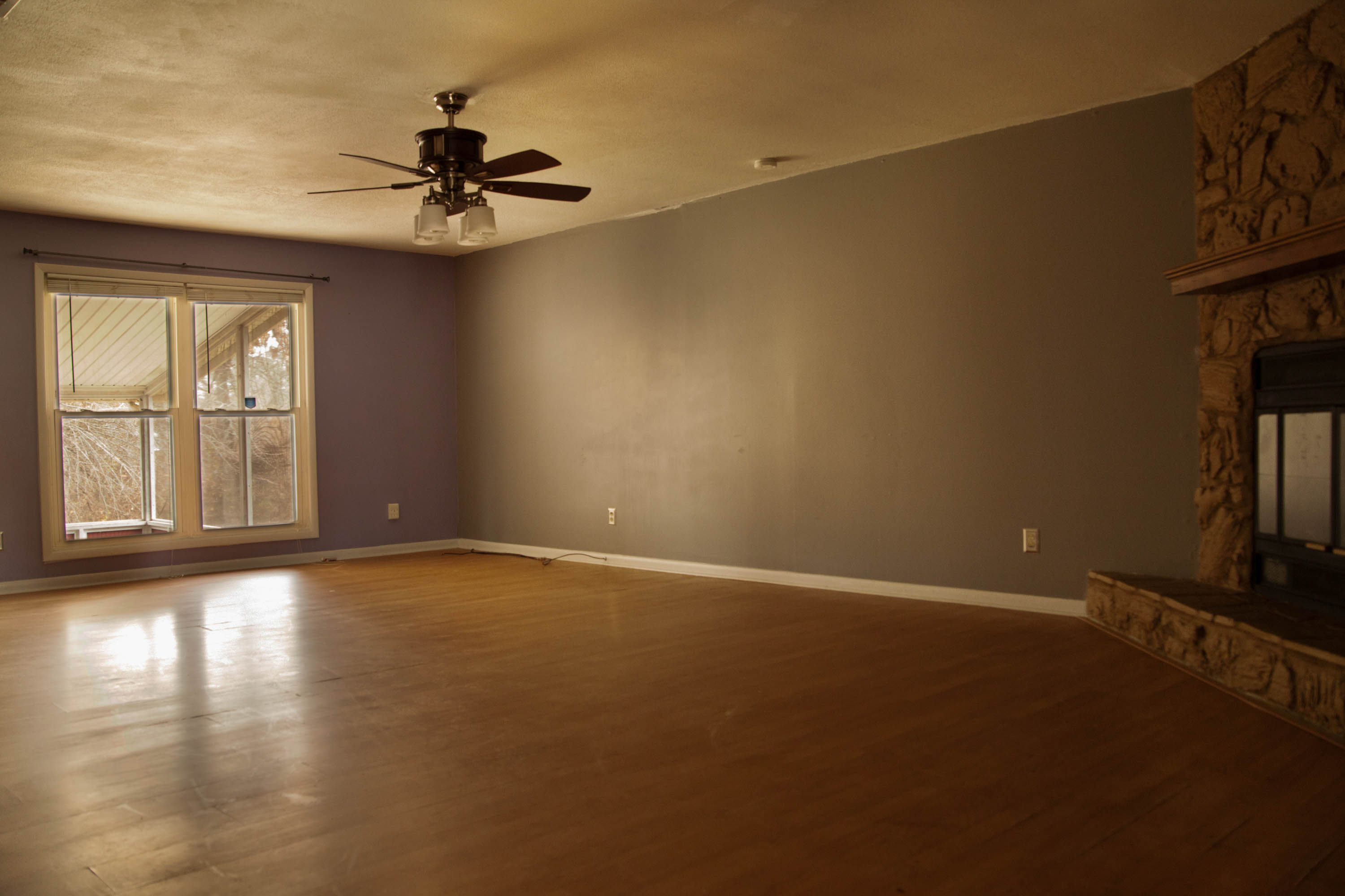 First Rental Property Living Room Area